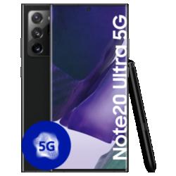 Galaxy Note20 Ultra 5G Schwarz Frontansicht 1