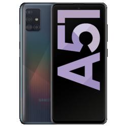 Galaxy A51 Schwarz Frontansicht 1