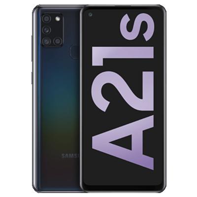 Galaxy A21s Schwarz Frontansicht 1