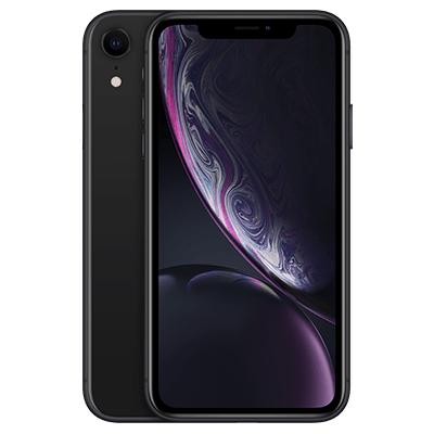 iPhone XR Schwarz Frontansicht 1