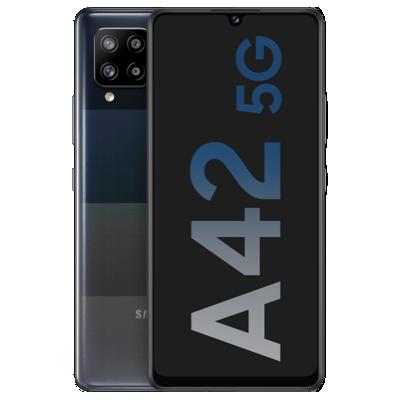 A42 5G Schwarz Frontansicht 1