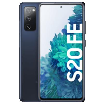 Galaxy S20 FE mit Nest Hub Blau Frontansicht 1