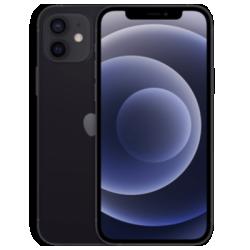 iPhone 12 mit AirPods (2nd Gen.) Schwarz Frontansicht 1