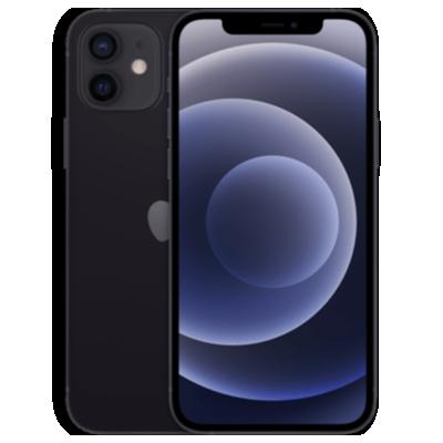 iPhone 12 mit AirPods Pro Schwarz Frontansicht 1