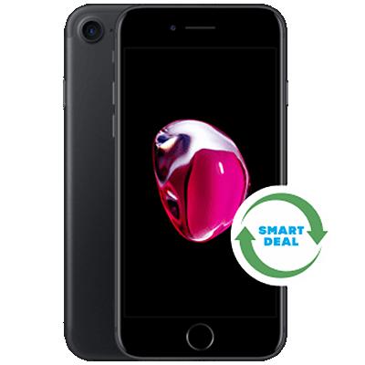 iPhone 7 (Generalüberholt) Schwarz Frontansicht 1