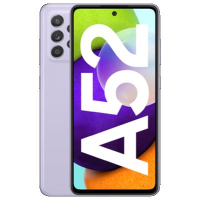 Galaxy A52 violett Frontansicht 1