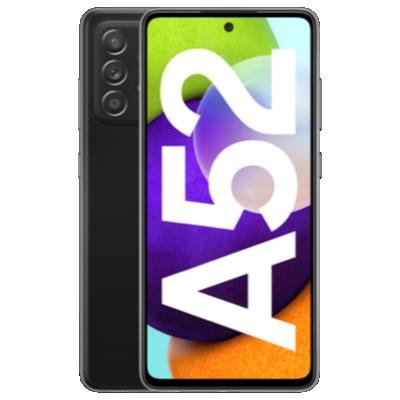 Galaxy A52 mit Nest Hub Schwarz Frontansicht 1