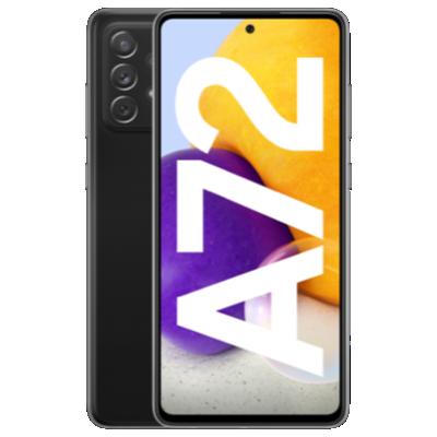 Galaxy A72 Schwarz Frontansicht 1