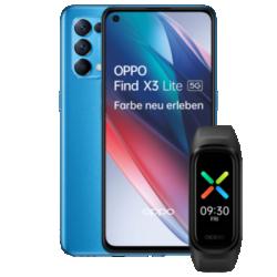 Find X3 Lite 5G mit Oppo Band Blau Frontansicht 1