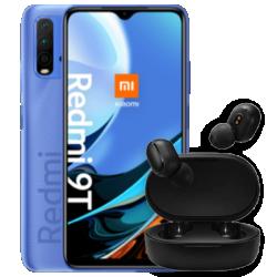 Redmi 9T mit EarBuds Basic 2 Blau Frontansicht 1
