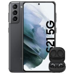Galaxy S21 5G mit Galaxy Buds Pro Grau Frontansicht 1