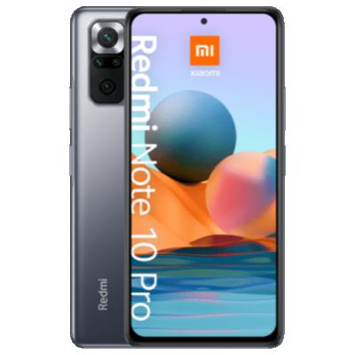 Redmi Note 10 Pro Schwarz Frontansicht 1