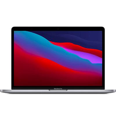 MacBook Pro (M1) mit WLAN-Router Grau Frontansicht 1