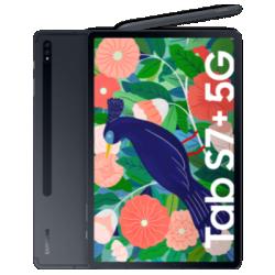 Galaxy Tab S7+ 5G Schwarz Frontansicht 1