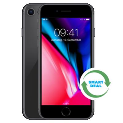 iPhone 8 (Generalüberholt) Grau Frontansicht 1