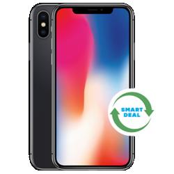 iPhone X (Generalüberholt) Grau Frontansicht 1