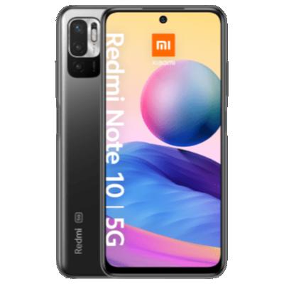 Redmi Note 10 5G mit EarbudsBasic 2 Schwarz Frontansicht 1