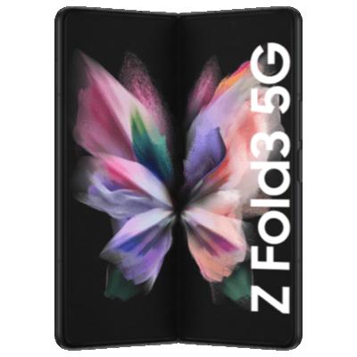 Galaxy Fold3 5G Schwarz Frontansicht 1