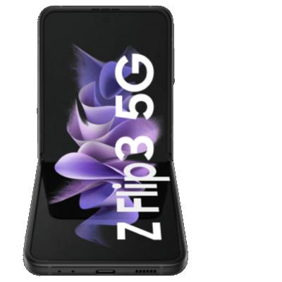 Galaxy Z Flip3 Schwarz Frontansicht 1