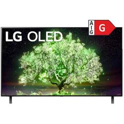 """OLED TV 55"""" Schwarz Frontansicht 1"""