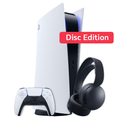 PS 5 mit EXTRA Controller & FIFA22 Weiß Frontansicht 1