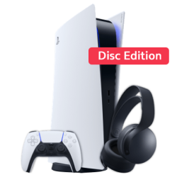 PS5 mit EXTRA Controller & FIFA22 Weiß Frontansicht 1