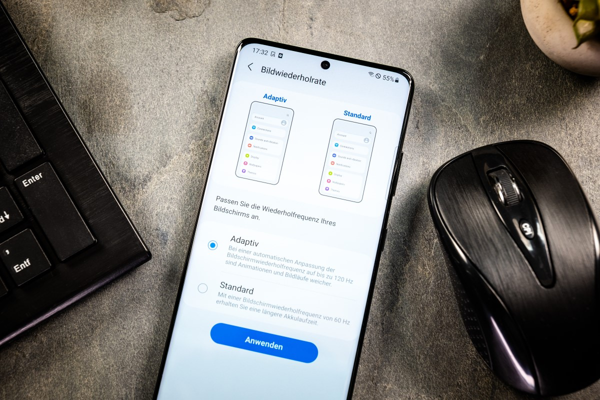 Samsung Galaxy S21 Ultra mit Vertrag Bildwiederholrate